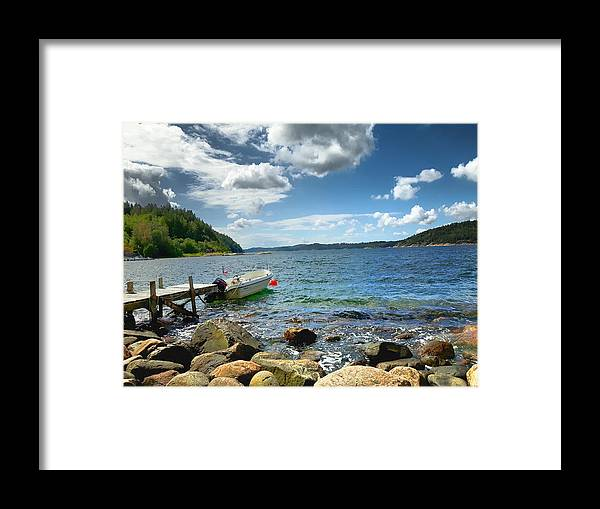 Sea Framed Print featuring the photograph Viken - Sweden by Thomas M Pikolin