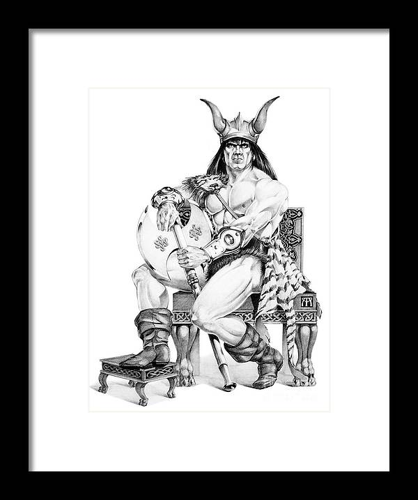 Viking Framed Print featuring the painting Viking Warrior by Melissa A Benson