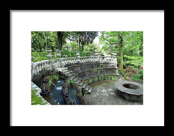 Villa Lante Framed Print featuring the photograph Villa Lante Garden by Valentino Visentini