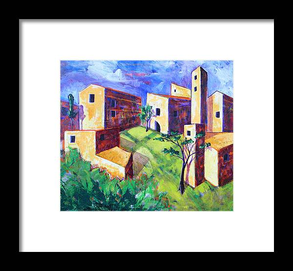 Landscape Framed Print featuring the painting Villa by Rollin Kocsis