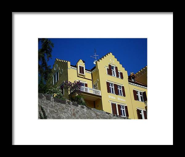 Villa Framed Print featuring the photograph Villa Weiss by Juergen Weiss