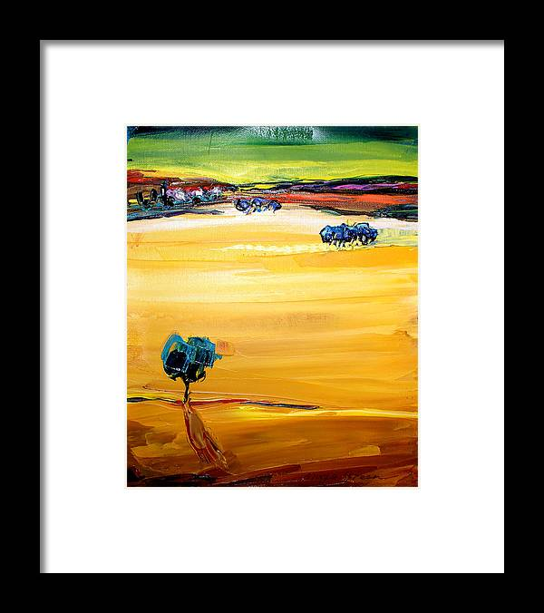 Artwork Framed Print featuring the painting Village by Maya Green