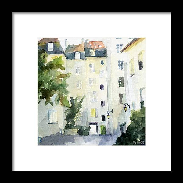Paris Framed Print featuring the painting Village Saint Paul Watercolor Painting of Paris by Beverly Brown