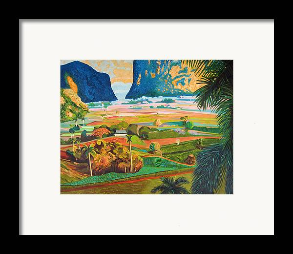 Cuban Art Framed Print featuring the painting Vinales by Jose Manuel Abraham