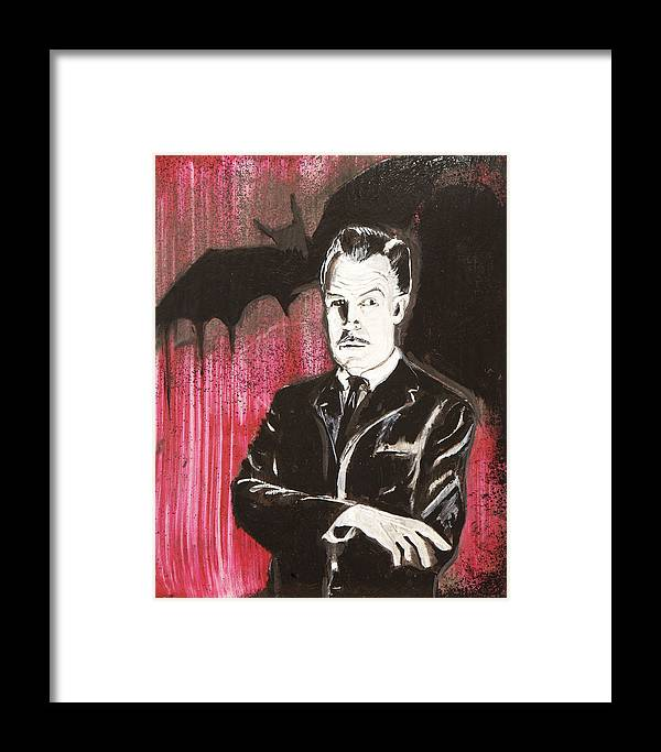 Vincent Price Framed Print featuring the painting Vincent Price No. 3 by Christopher Chouinard