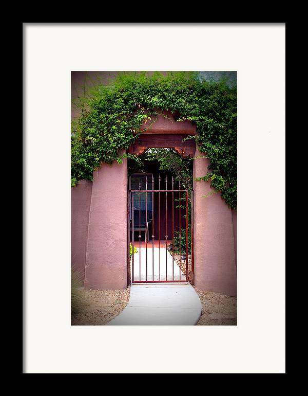 Vine Framed Print featuring the photograph Vine Covered Entry by Bob Gardner