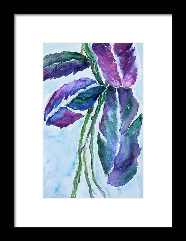 Landscape Framed Print featuring the painting Vine by Suzanne Udell Levinger