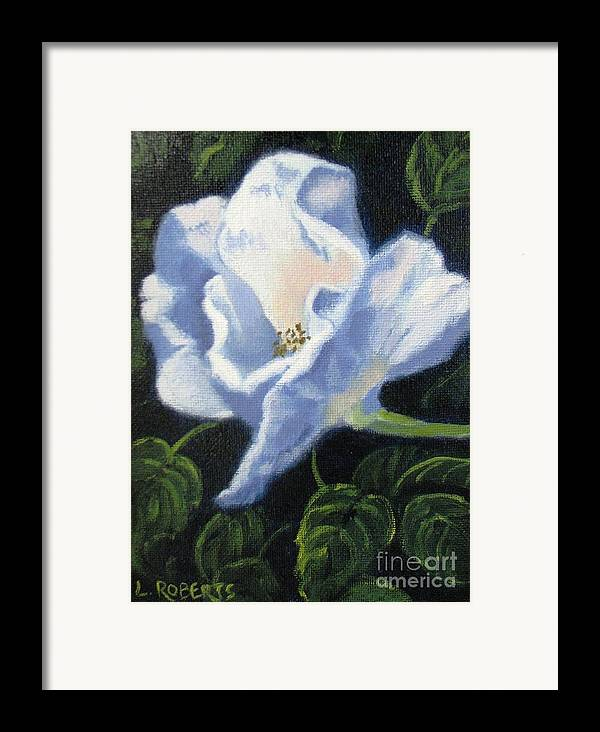 Floral Framed Print featuring the painting Vineyard Beach Rose by Laura Roberts