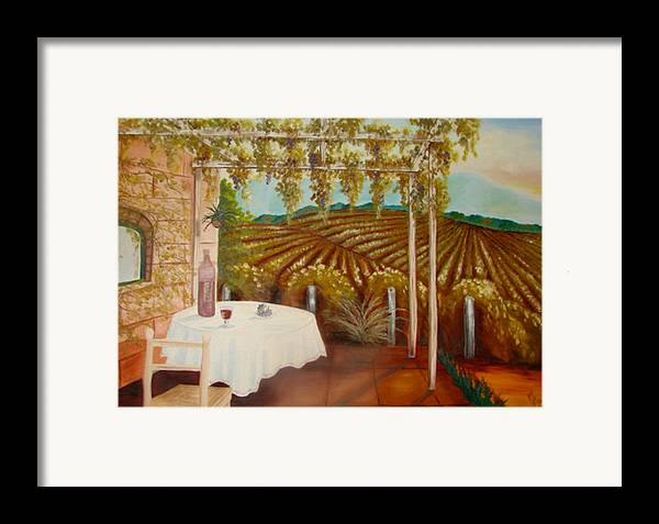 Vineyard Framed Print featuring the painting Vineyard II by Karen R Scoville