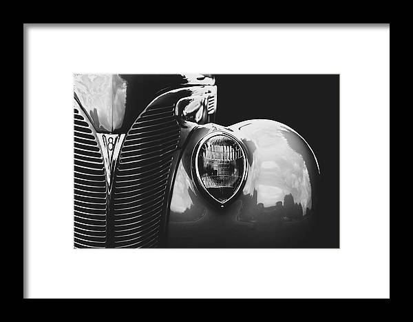 Black And White Framed Print featuring the photograph Vintage Car by Travis Simpler