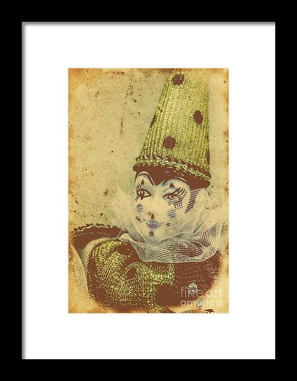 Vintage Framed Print featuring the photograph Vintage Circus Postcard by Jorgo Photography - Wall Art Gallery