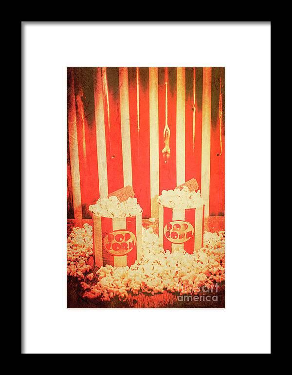 Vintage Classical Cinema Interval Concept Framed Print by Jorgo ...