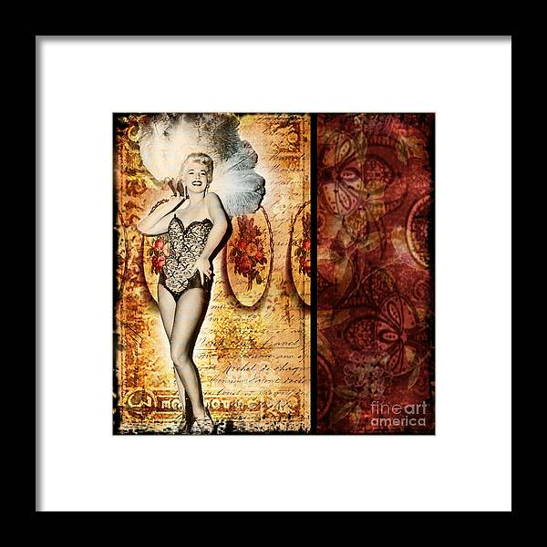 Vintage Framed Print featuring the photograph Vintage Collage 5 by Angelina Cornidez