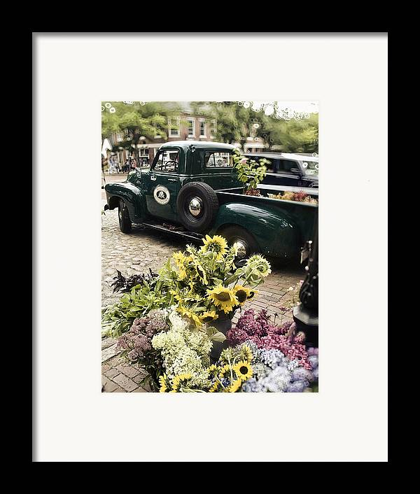 Nantucket Framed Print featuring the photograph Vintage Flower Truck-nantucket by Tammy Wetzel