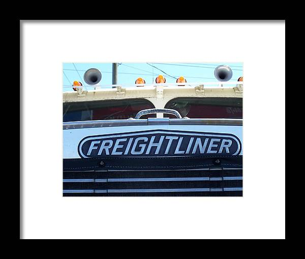 Freightliner Framed Print featuring the photograph Vintage Freightliner by Andrew Karp