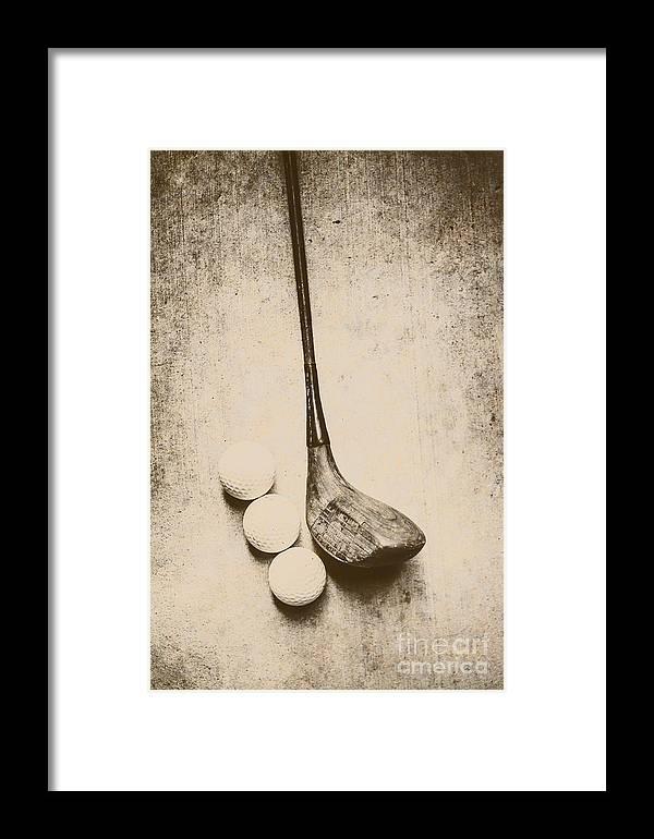 Vintage Golf Artwork Framed Print by Jorgo Photography - Wall Art ...