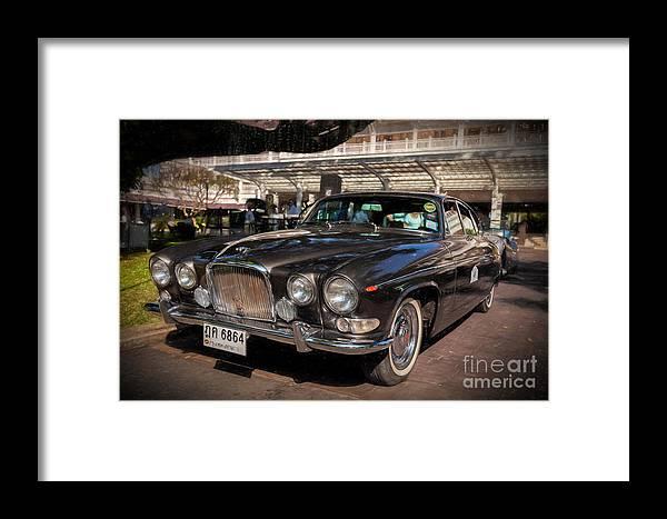 Jaguar Framed Print featuring the photograph Vintage Jaguar by Adrian Evans