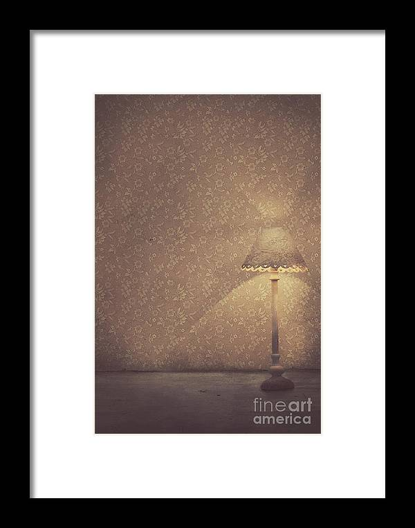 Creative Framed Print featuring the photograph Vintage Lamp by Mythja Photography