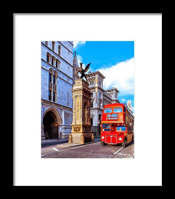 Vintage Framed Print featuring the photograph Vintage London - Routemaster Double-decker Bus by Mark E Tisdale