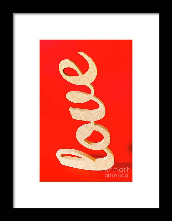 Love Framed Print featuring the photograph Vintage Love Sign by Jorgo Photography - Wall Art Gallery