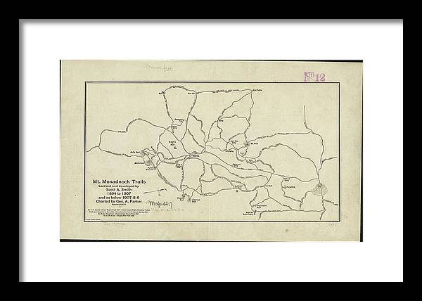 Vintage Mount Monadnock Trail Map - 1910 by CartographyAssociates