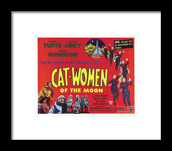 Vintage Movie Posters, Cat-women Of The Moon Framed Print by ...
