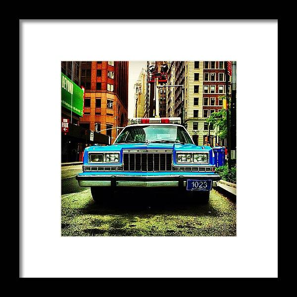 Dodge Framed Print featuring the photograph Vintage Nypd. #car #nypd #nyc by Luke Kingma
