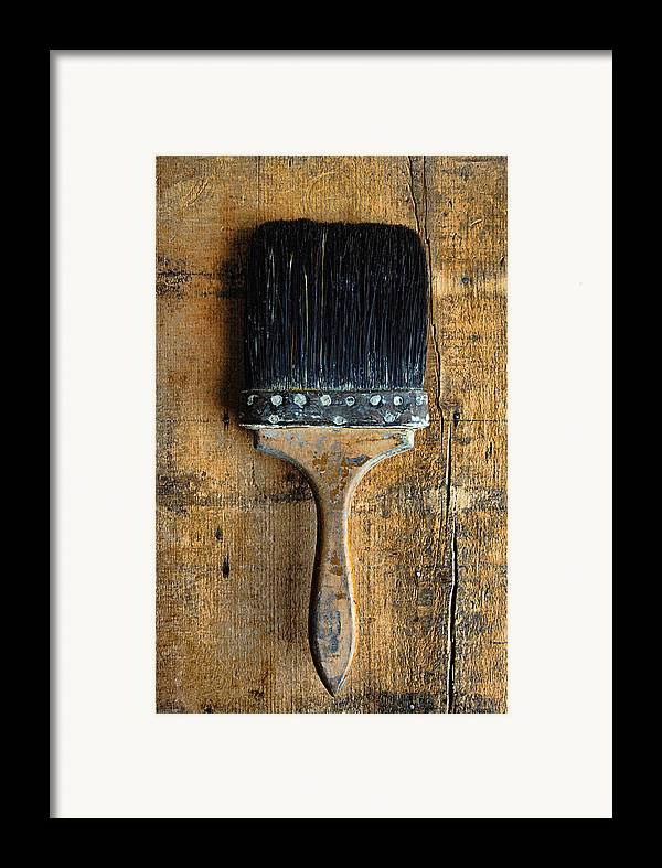 Paint Brush Framed Print featuring the photograph Vintage Paint Brush by Jill Battaglia
