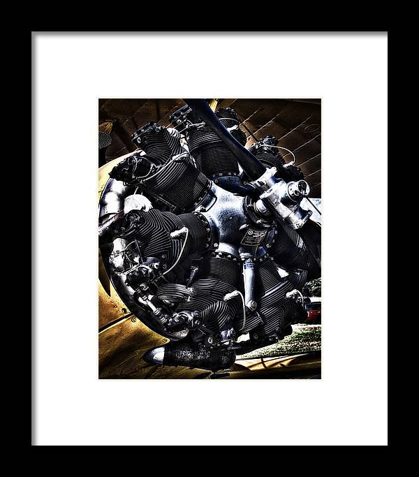 Vintage Radial Framed Print featuring the photograph Vintage Radial by Dieter Lesche