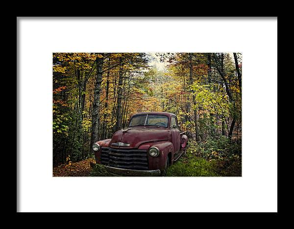 Appalachia Framed Print featuring the photograph Vintage Red by Debra and Dave Vanderlaan