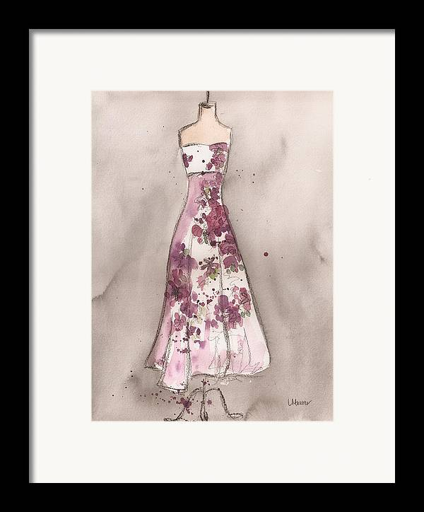 Vintage Dress Framed Print featuring the painting Vintage Romance Dress by Lauren Maurer