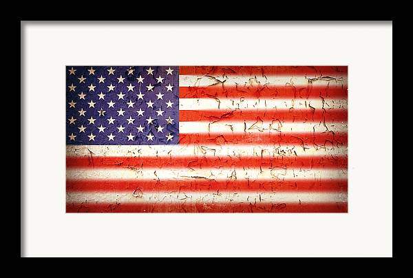4th Framed Print featuring the photograph Vintage Stars And Stripes by Jane Rix