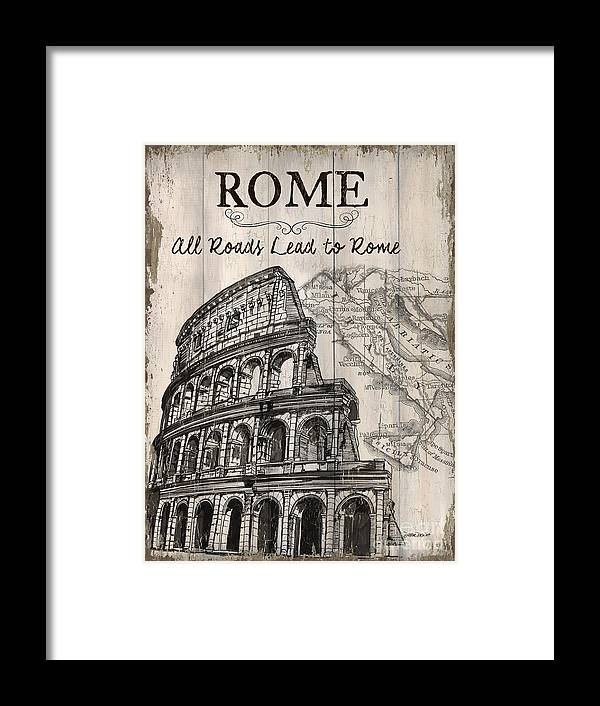 Rome Framed Print featuring the painting Vintage Travel Poster by Debbie DeWitt