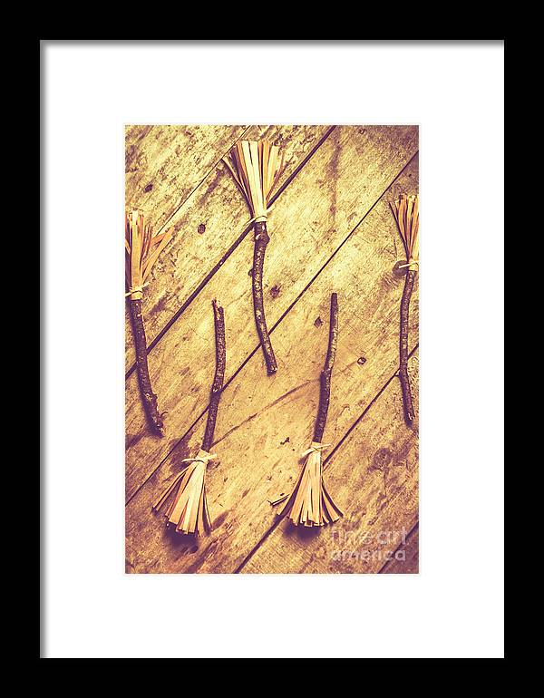 Vintage Witches Broomsticks Framed Print by Jorgo Photography - Wall ...