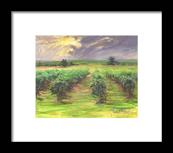 Vinyard Framed Print featuring the painting Vinyard by Margaret Aycock