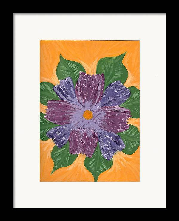 Flower Framed Print featuring the painting Viola by Laura Lillo