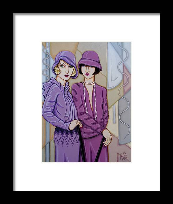 Flappers Framed Print featuring the painting Violet And Rose by Tara Hutton