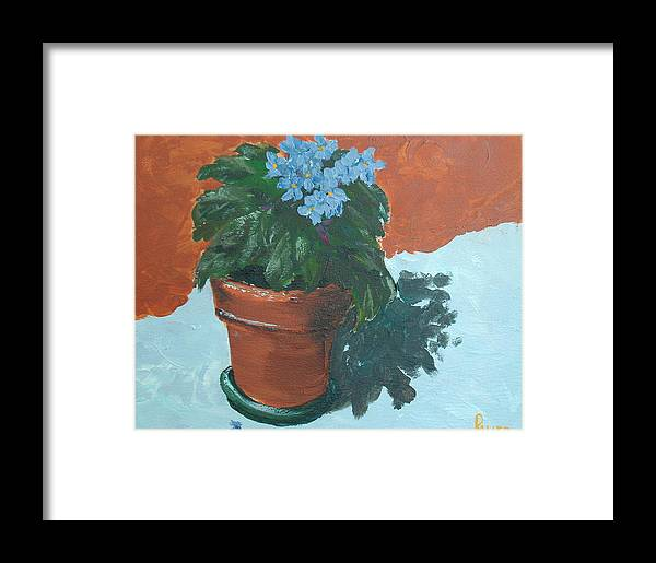 Violets Framed Print featuring the painting Violet Blues by Pete Maier