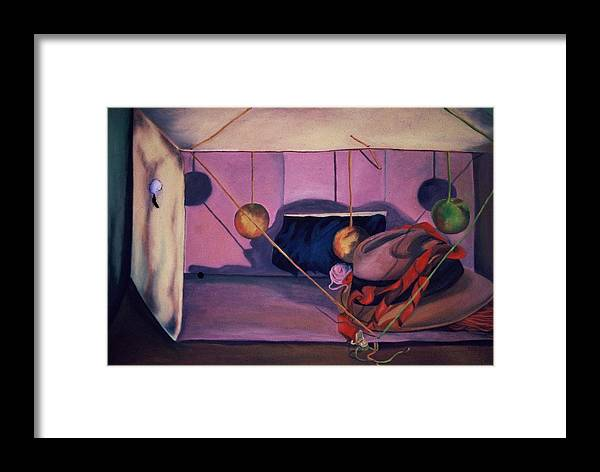 Box Framed Print featuring the painting Violet Box by Karen Thompson