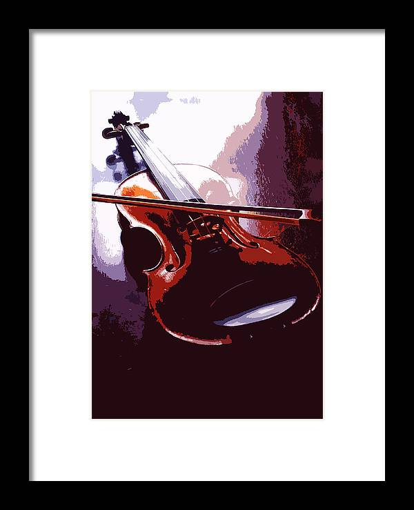 Music Framed Print featuring the photograph Violin Artistic by Steve Somerville