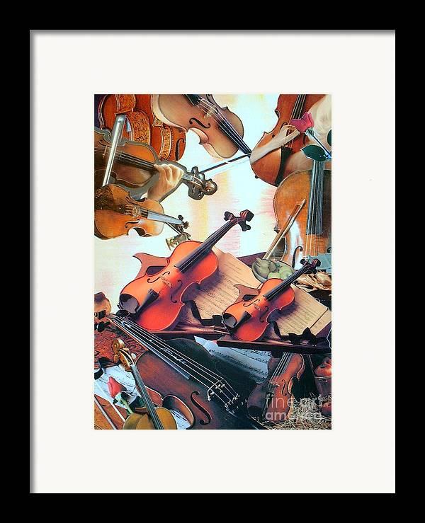 Music Framed Print featuring the mixed media Violin Concierto by Judith Espinoza