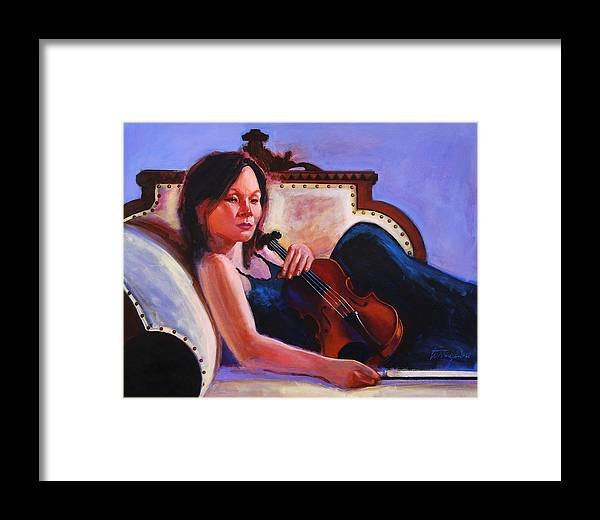 Portrait Framed Print featuring the painting Violino by John Tartaglione