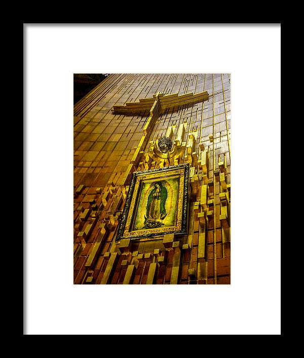 Basilica De Guadalupe Framed Print featuring the photograph Virgen De Guadalupe 10 by Totto Ponce