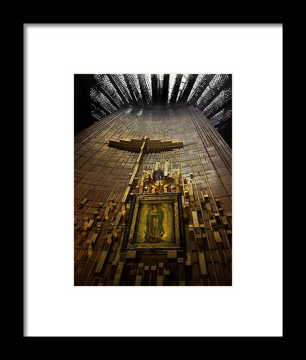 Basilica De Guadalupe Framed Print featuring the photograph Virgen De Guadalupe 9 by Totto Ponce