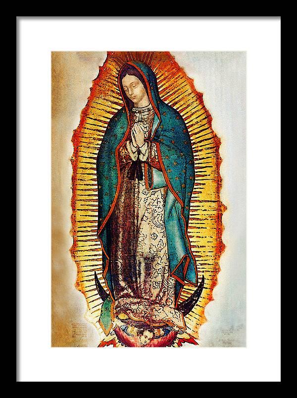 Virgen De Guadalupe Framed Art Prints Fine Art America