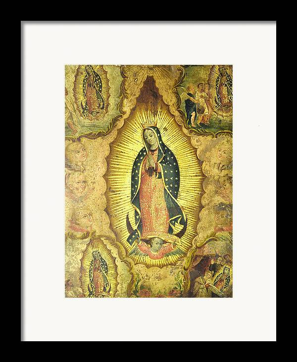 Religion Framed Print featuring the painting Virgen De Guadalupe by Unknown