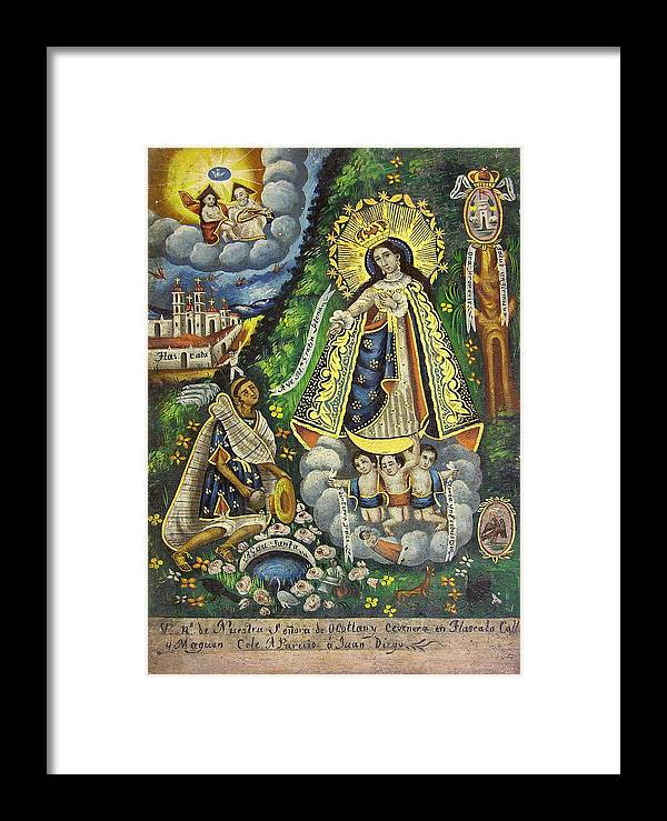 Religion Framed Print featuring the painting Virgen De Ocotlan by Unknown