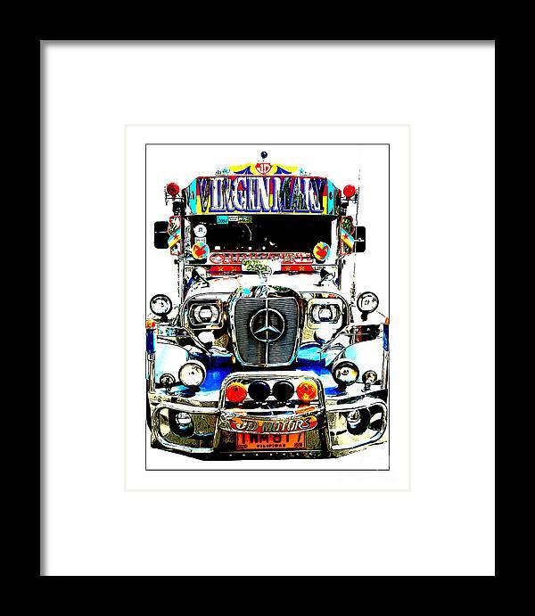 Jeepney Framed Print featuring the photograph Virgin Mary by Derek Selander