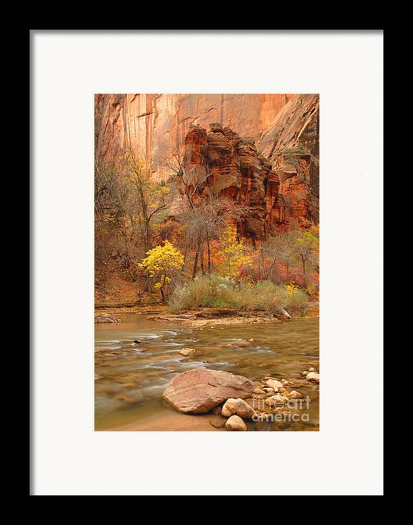 Utah Framed Print featuring the photograph Virgin River At The Narrows by Dennis Hammer