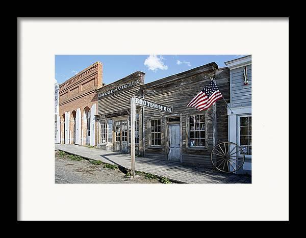 Montana Framed Print featuring the digital art Virginia City Ghost Town - Montana by Daniel Hagerman